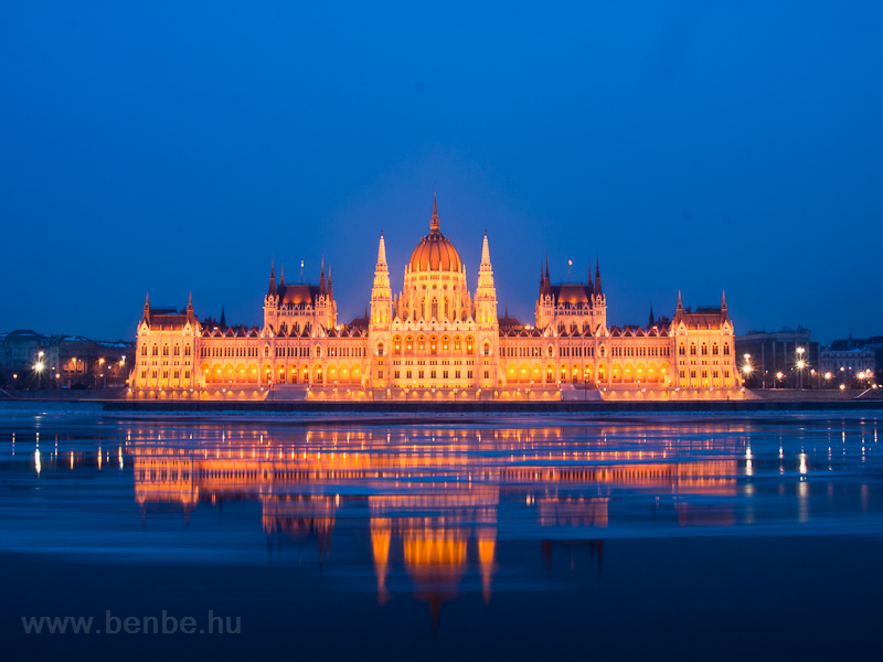 Debacle on the river Duna by the Budapest Parliament photo