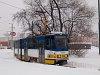 The SZKV (Szeged Transport Company) tram number 206 (type Tatra KT4 Kurzgelenkwagen) at Rókus pályaudvar