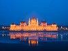 Jégzajlás a Dunán a Parlamentnél