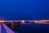 Jégzajlás a Dunán a Margit-hídnál