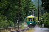 The Höllentalbahn TW 1 seen between Haaberg and Reichenau after an afternoon shower