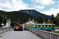 "The Höllentalbahn <span style=""font-family: serif"">EI</span> seen at Reichenau"