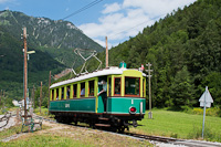 The Höllentalbahn TW 1 seen at Hirschwang