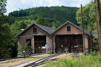 The depot of the Höllentalbahn at Hirschwang, Austria