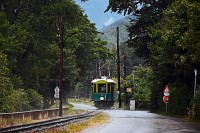 The Höllentalbahn TW 1 seen between Hirschwang and Reichenau an der Rax