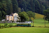 The Höllentalbahn TW 1 seen between Reichenau an der Rax and Kurhaus