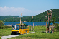 The ÉMKK/Borsodvolán Ikarus 260.43 CCJ-148 seen near Rakaca-reservoir