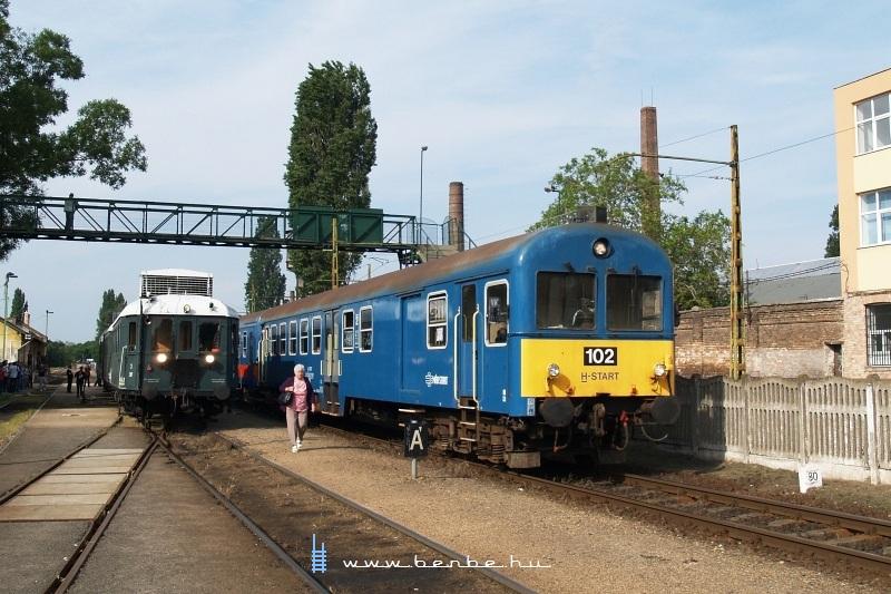 BCmot 397 és a 102-es BDt Kispest állomáson fotó
