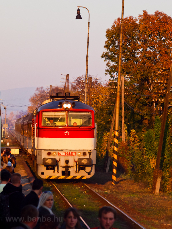 The ŽSSK 750 238-8 seen at Chynorany photo