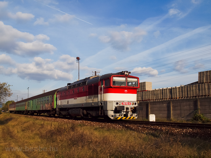 The ZSSK 750 182-8 seen hau photo