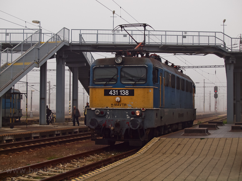 The MÁV-TR 431 138 seen at  photo
