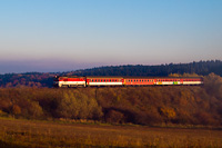 The ŽSSK 754 004-0 seen between Čremošné and Horná ŠtubŇa obec