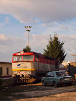 The ZSSKC 751 043-1 seen at Prievidza