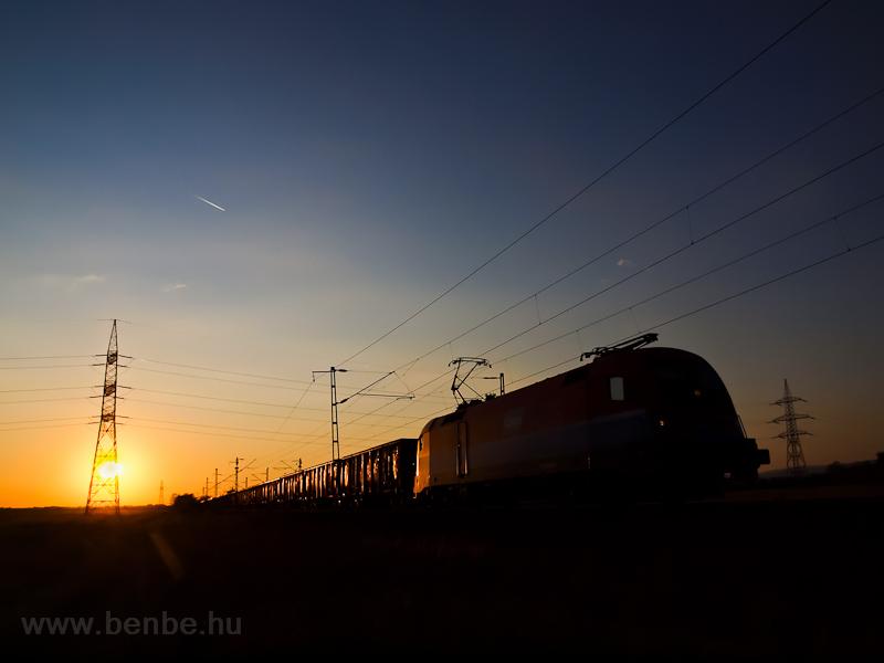Az RCH 1116 010-8 tehervonattal Ludas és Nagyút között fotó