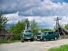 Retró gépjárművek (Lada személygépkocsi és Ural teherautó)
