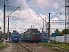 The UŽ VL10 1491, the VL11 071A and the ER2 1005 seen at Стрий
