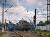 Az UZ VL10 1491, VL11 071A és az ER2 1005 Stryi állomáson