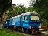 Az UŽ TU2 018 Ifjúság állomáson az Ungvári Gyermekvasúton, még a vonal felújítása előtt