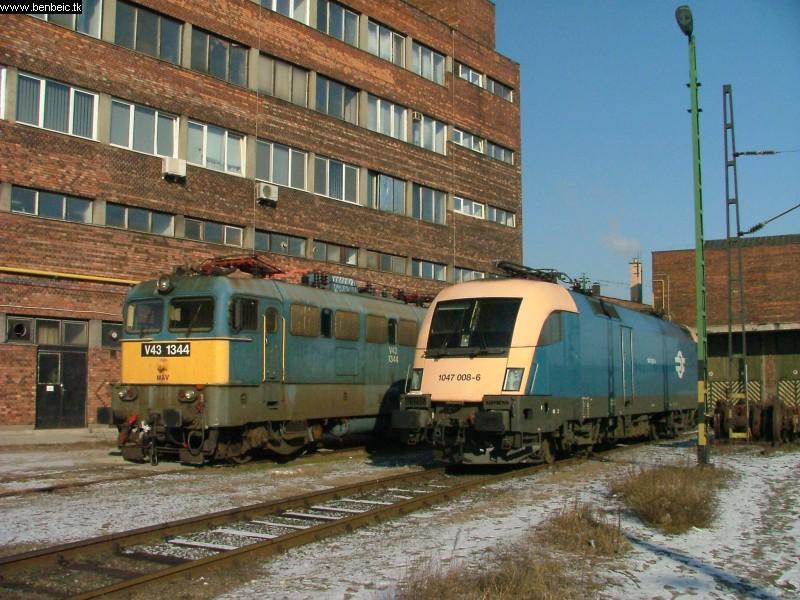 V43 1344 és 1047 008-6 Ferencvárosban fotó