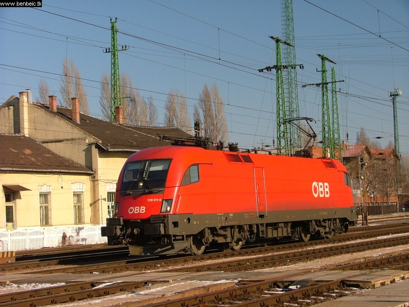 1116 011-6 gépmenetben érkezett Ferencvárosba. fotó