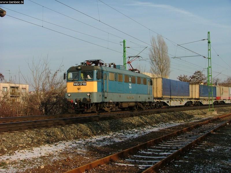 V43 1210 tehervonatával Kelenföld elõtt fotó