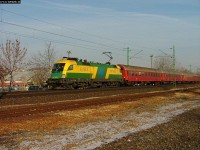 The GySEV 1047 504-4 with a fast train from Szerencs to Sopron