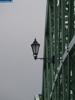 A lamp of Mária Valéria-bridge