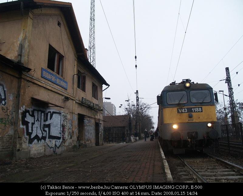 Budafok-Belváros is egy a sok magyar fantomállomás közül (a képen V43 1188) fotó