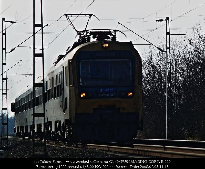 BDVmot 017 Dunakeszire érkezik fotó
