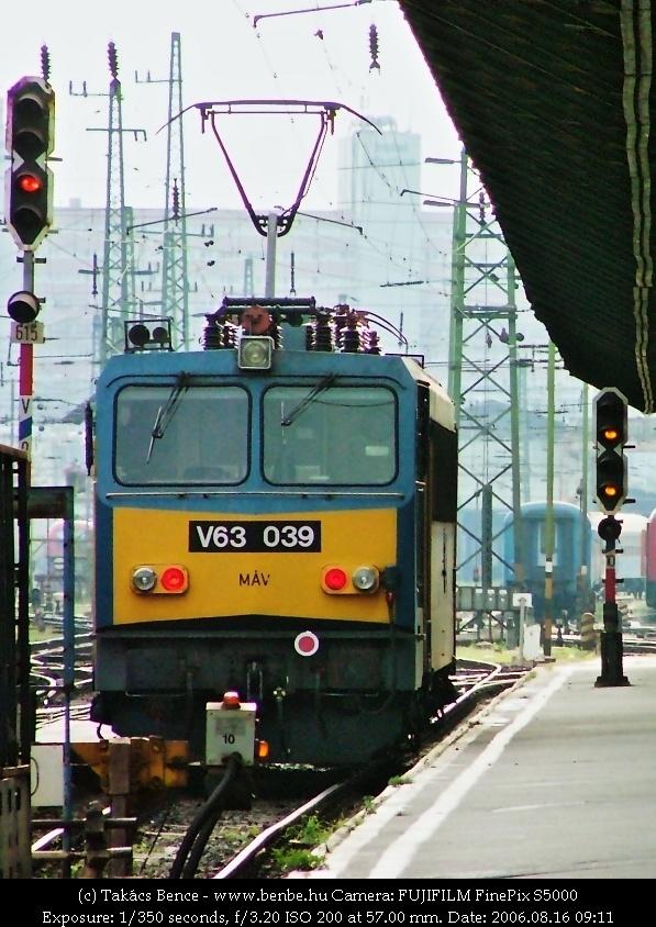 V63 039 a Keletiben fotó