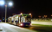 The first departure of a Volvo 7700A from Óbuda