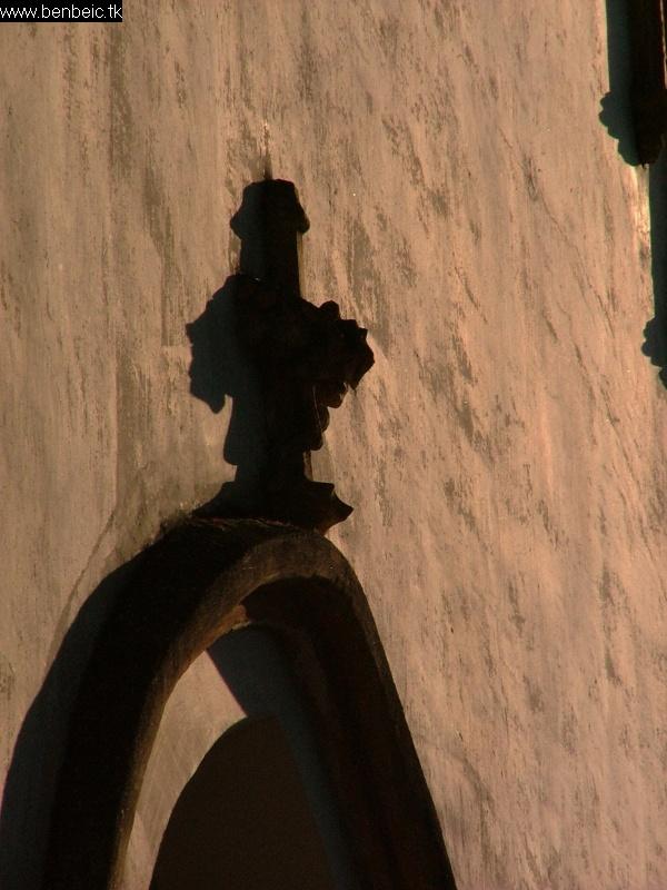 A nógrádszakáli templom oromzata fotó