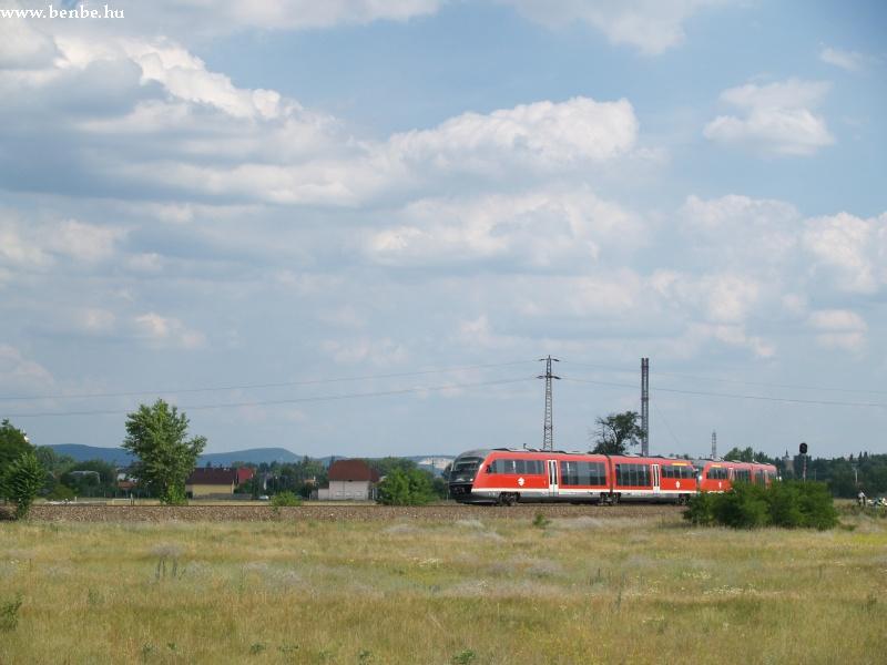 Desiro érkezik Esztergom-Kertváros állomásra fotó