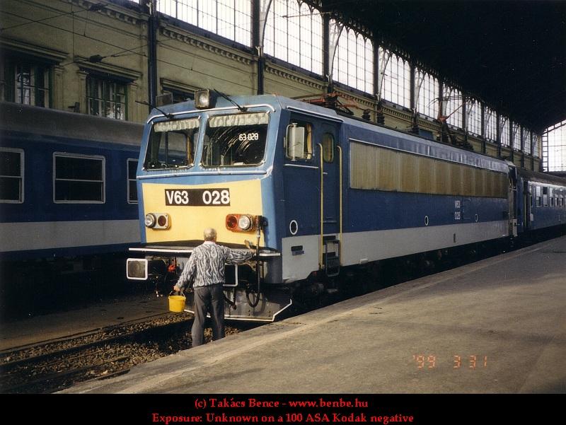 V63 028 a Nyugati pályaudvaron fotó