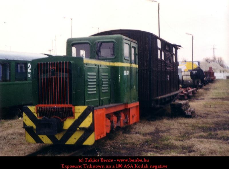 A D04 601-es a kecskeméti kisvasút jármûskanzenben fotó