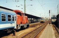 The M43 1124, V43 1357 and V63 010 at the Keleti pályaudvar
