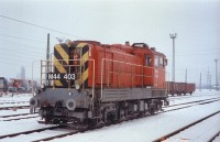 The M44 403 at a snowy Óbuda