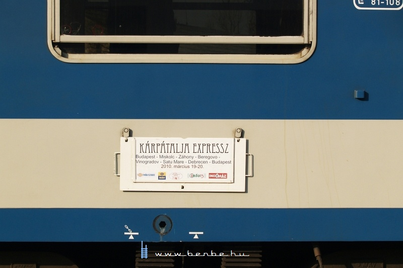 A Kárpátalja-expressz iránytáblája fotó