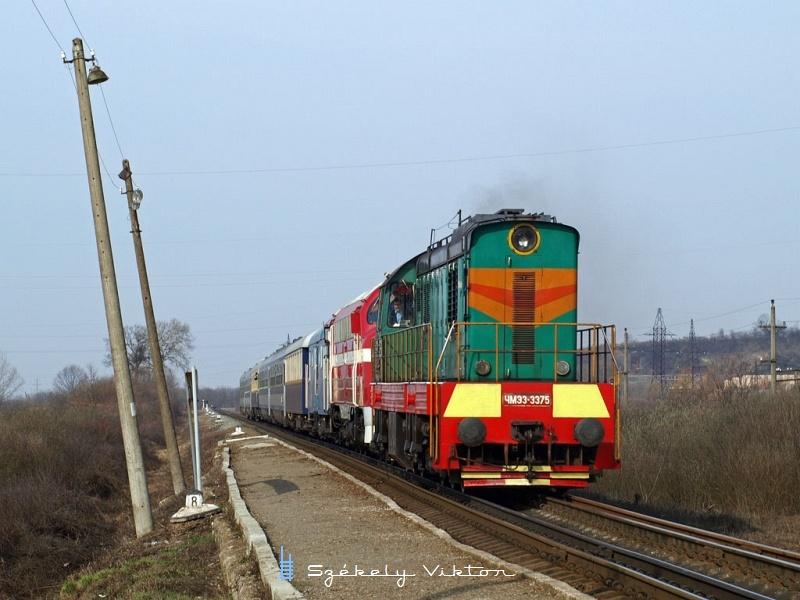A MÁV-Nosztalgia M61 001 és az Ukrán Vasutak ЧМЭ3-3375 Nagybakta megállóhelyen fotó