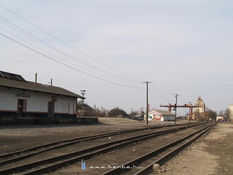 A Borzsavölgyi Gazdasági Vasút végállomása Nagyszőlősön (Виноградів) fotó