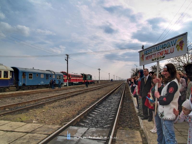 A Kárpátalja-expressz köszöntése Nevetlenfaluban (Неветленфoлу/ДЯКОВО) fotó