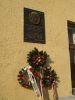 Dsida Jenő emléktáblája a beregszászi vasútállomás utcai homlokzatán