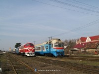 The D1 632-3 and M61 001 at Nagyszőlős (Vynogradovo)
