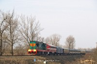 The ChME3-3375 and the M61 001 near Tiszaújlak (Вилок)