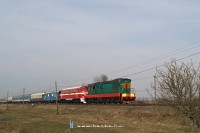 The D1 563-3, ChME3-3375 and the M61 001 near Tiszaújlak (Вилок)