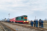 CsME3-3375 Nevetlenfaluban (Неветленфoлу/ДЯКОВО) a K�rp�talja-expresszel