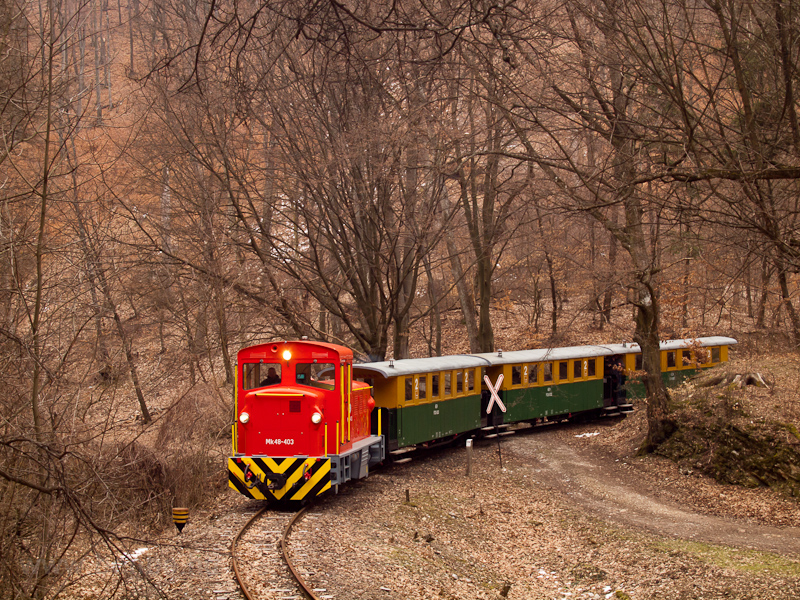 The Mk48-403 at Szalajka-Fátyolvízesés station photo