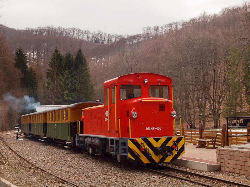 Az Mk48-403 Szalajka-Fátyolvízesés állomáson fotó