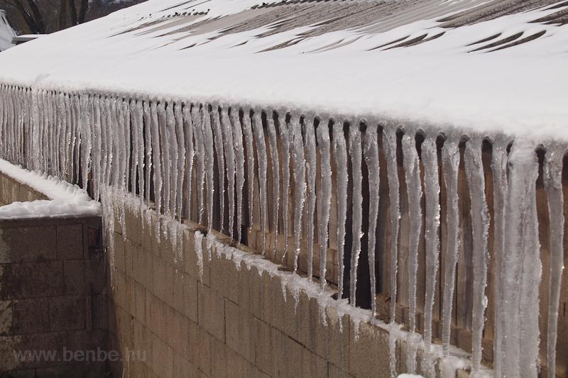 Jégcsapok Nagybörzsönyben fotó