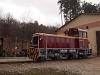 A Mátravasút Mk48-411-ese Szilvásváradon, a fűtőházban